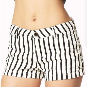 """Lola"" vertical stripe shorts"
